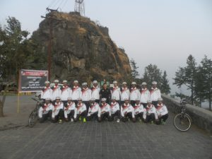 cycle rally starting from sihagad to milkha singh stadium